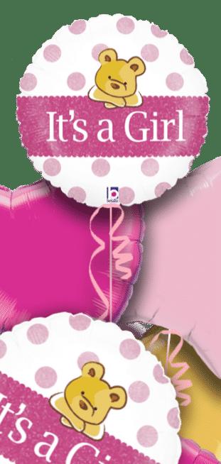 Its a Girl Baby Bear Balloon