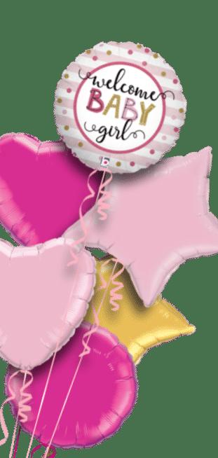 Welcome Baby Girl Balloon
