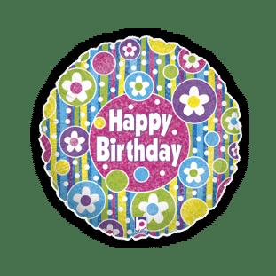 Birthday Bright Flowers Balloon