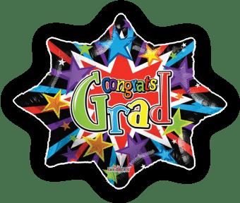 Congrats Grad Starburst