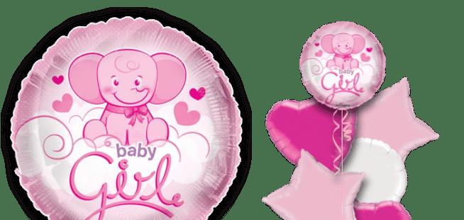 Cute Baby Girl Elephant Balloon