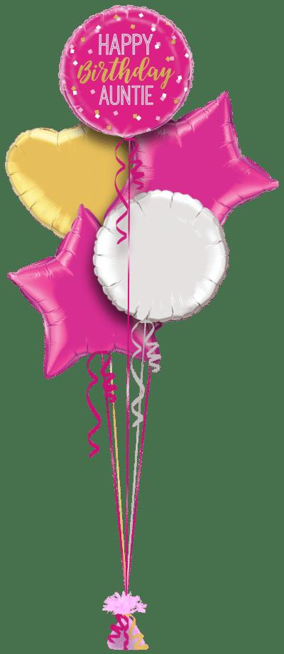 Happy Birthday Auntie Balloon Bunch