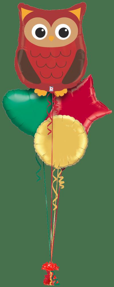 Woodland Creature Owl Balloon Bunch