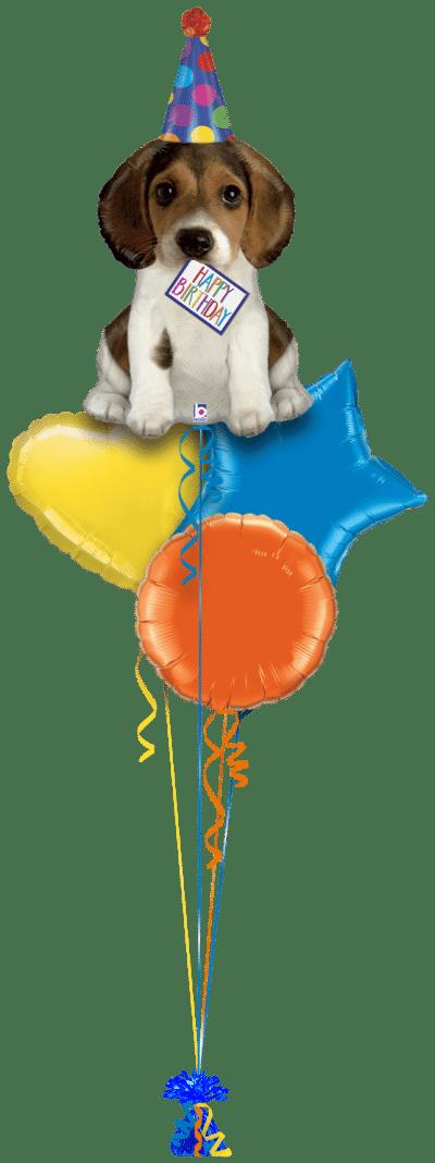 Birthday Pup Balloon Bunch