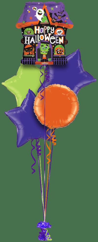 Halloween Haunted House Balloon Bunch