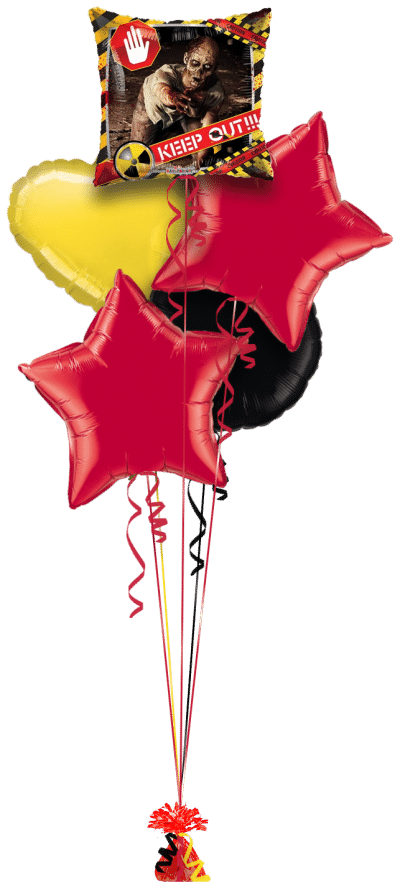 Zombie Keep Out Balloon Bunch