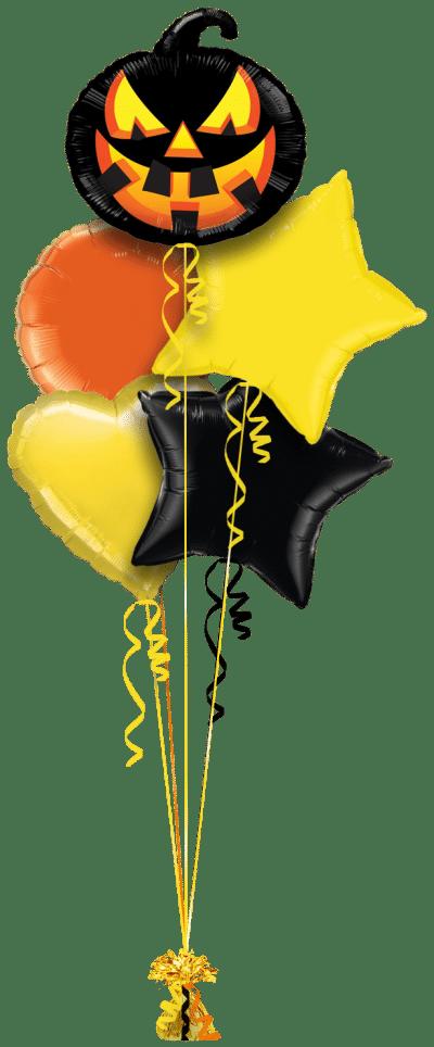 Black Pumpkin Balloon Bunch
