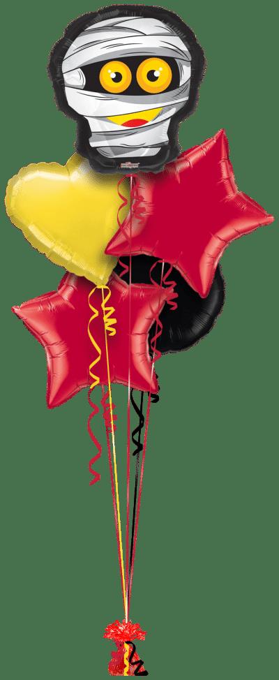 Halloween Mummy Head Balloon Bunch