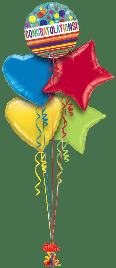 Congratulations Sparkle Balloon Bunch