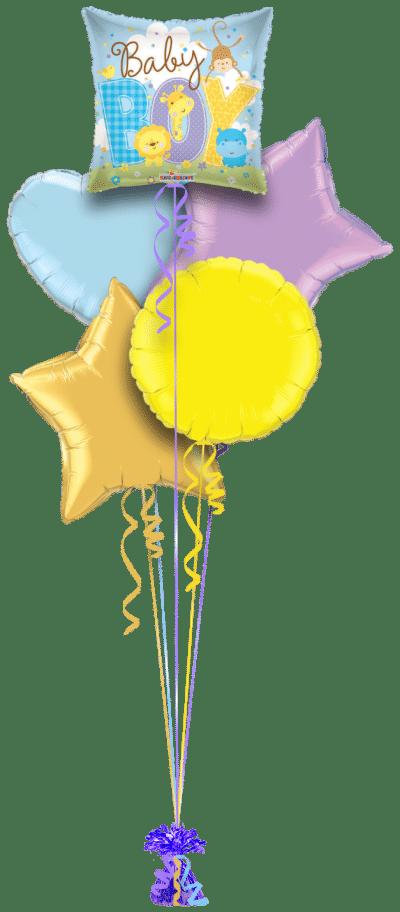 Baby Boy Animals Balloon Bunch