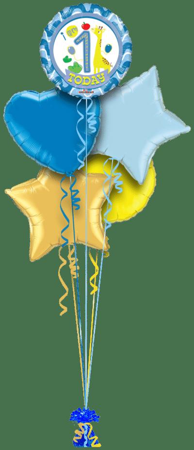 Special 1st Birthday Boy Balloon Bunch