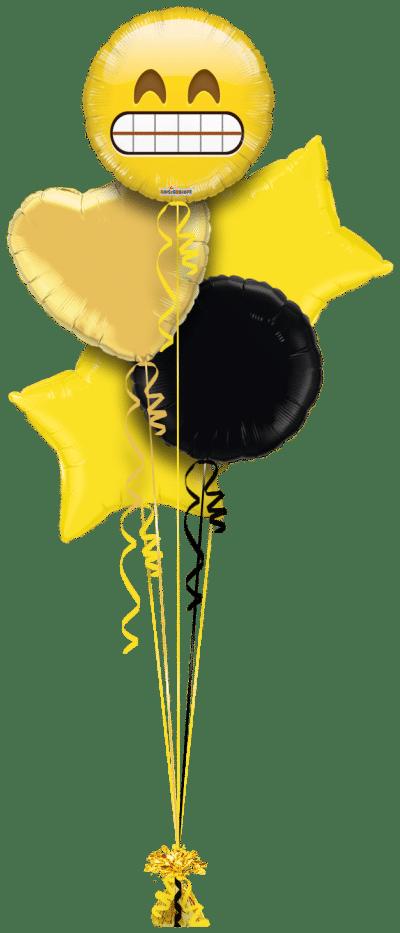 Grinning Emoji Balloon Bunch