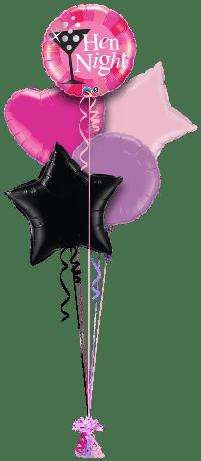Hen Night Bubbly Balloon Bunch