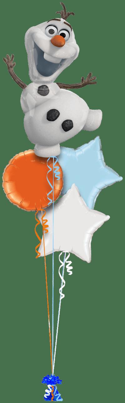Frozen Olaf Balloon Bunch