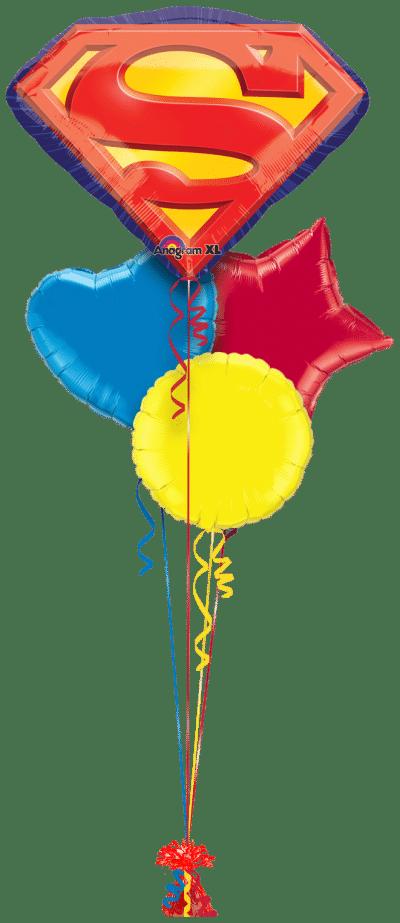 Superman Emblem Balloon Bunch
