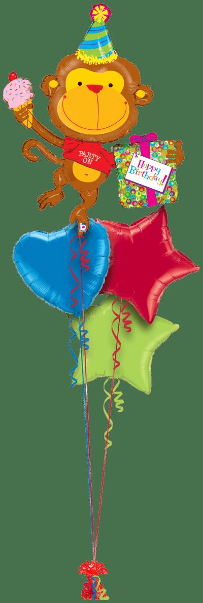 Birthday Monkey Balloon Bunch