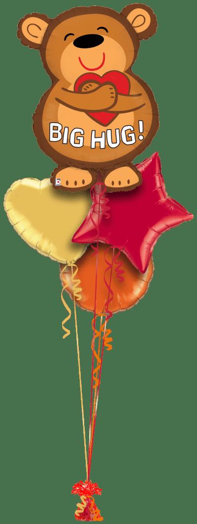Big Hug Bear Balloon Bunch