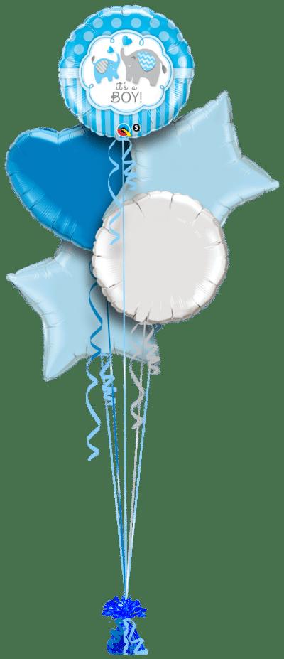 Its a Boy Elephants Balloon Bunch