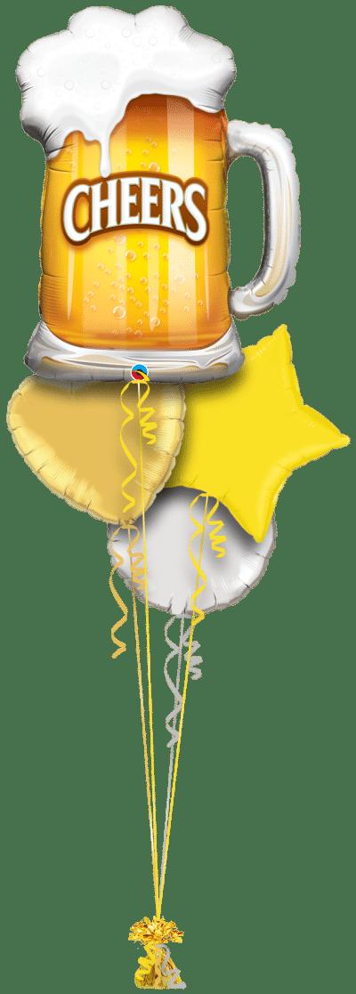 Cheers Beer Balloon Bunch