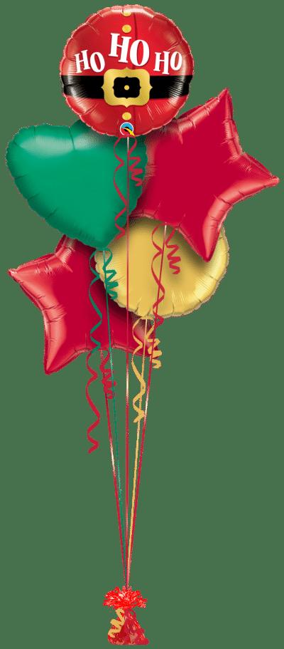 Ho Ho Ho Santa Belt Balloon Bunch