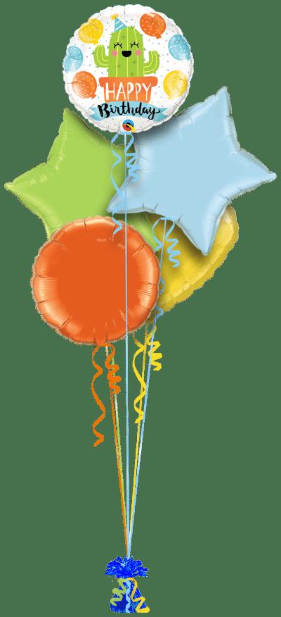 Birthday Party Cactus Balloon Bunch