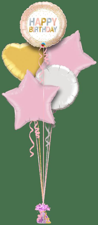Birthday Metallic Dots Balloon Bunch