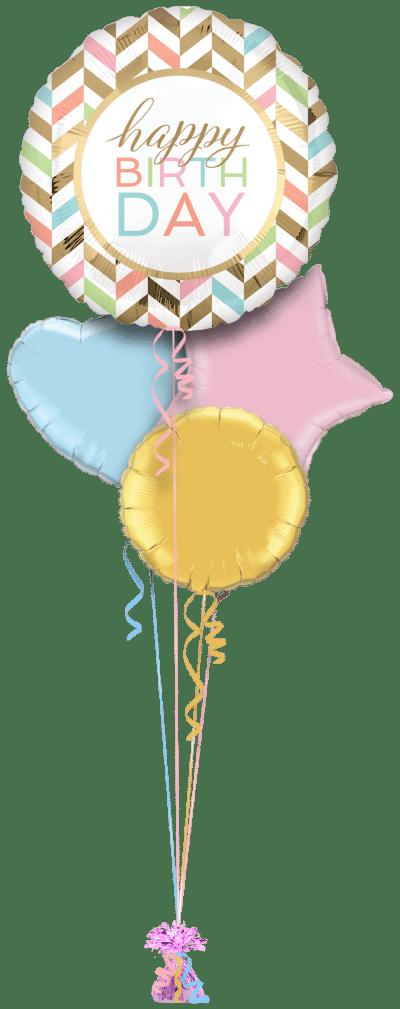 Jumbo Birthday Confetti Fun Balloon Bunch