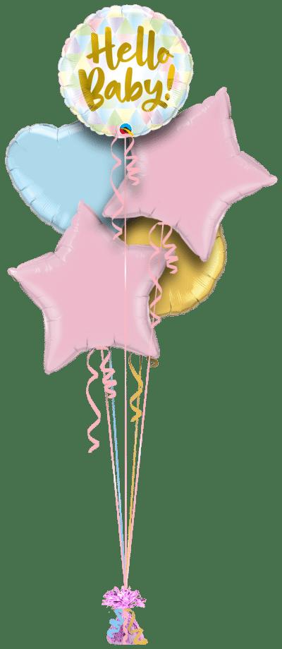 Hello Baby Balloon Bunch