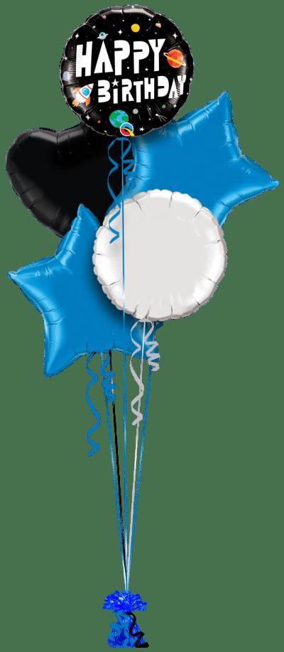 Birthday Spaceman Balloon Bunch