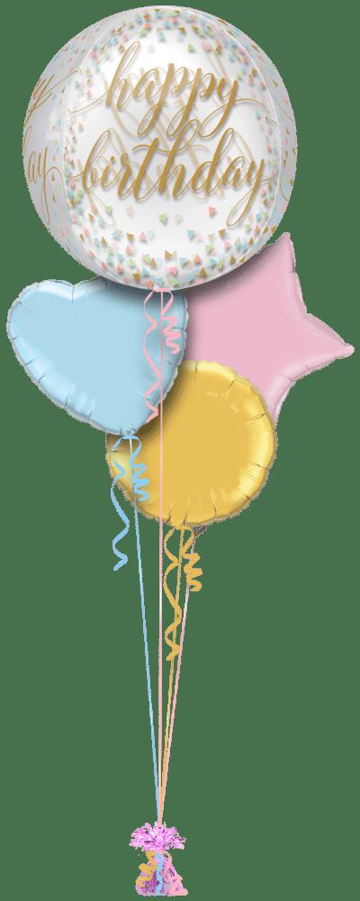 Happy Birthday Script Orbz Balloon Bunch