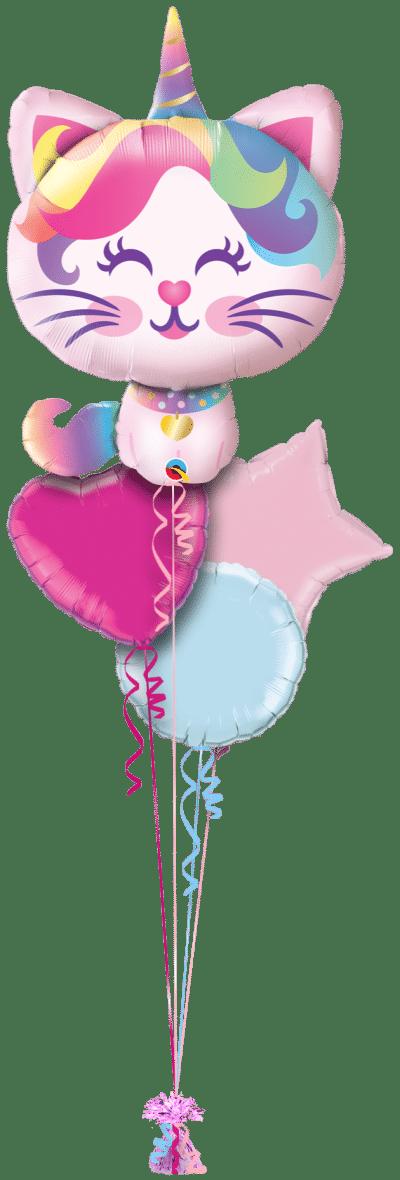 Mythical Caticorn Balloon Bunch