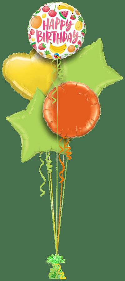 Birthday Fruits Balloon Bunch