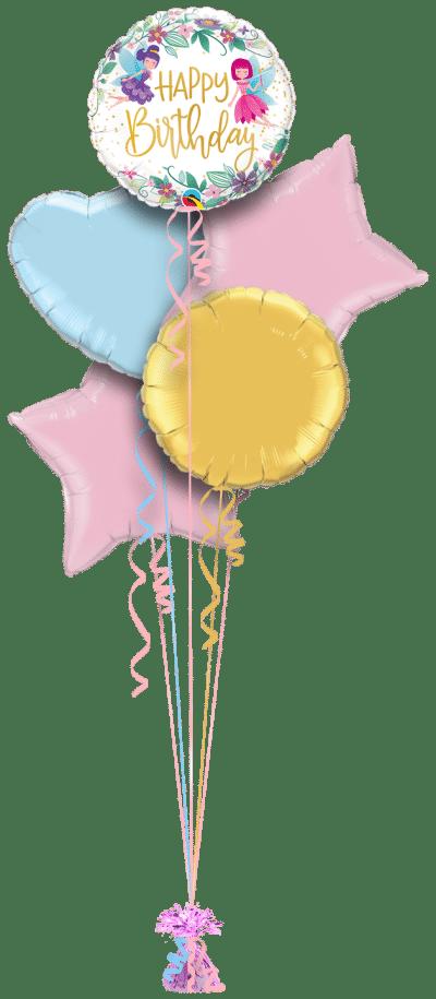 Birthday Wild Flower Fairies Balloon Bunch