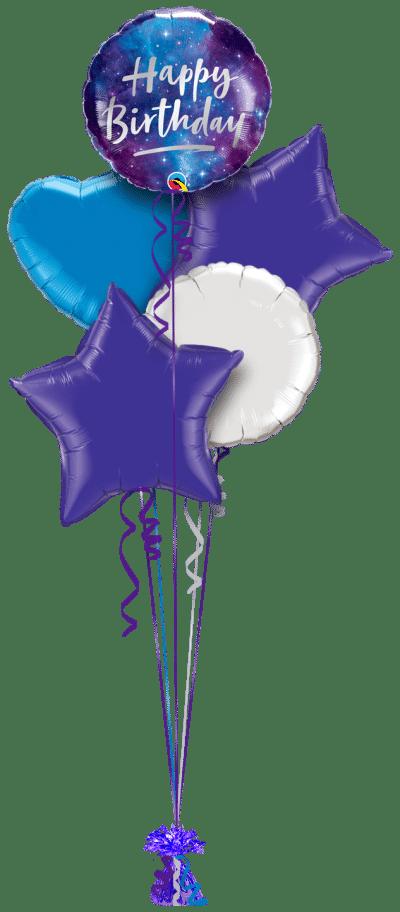 Birthday Galaxy Balloon Bunch