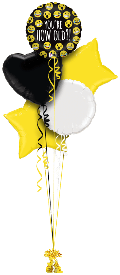 Emoji How Old Balloon Bunch