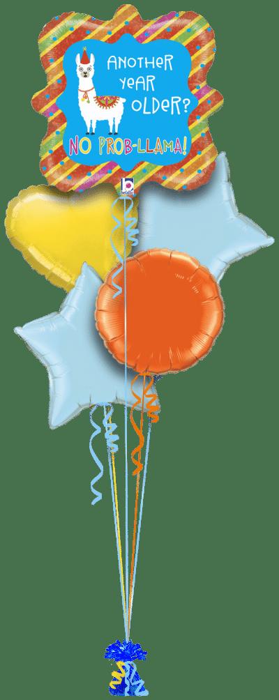 Year Older No Prob Llama Balloon Bunch