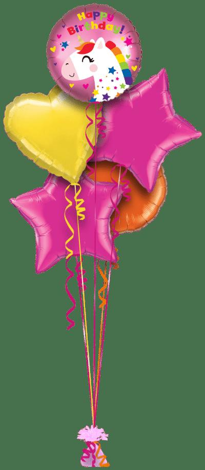 Unicorn Birthday Balloon Bunch