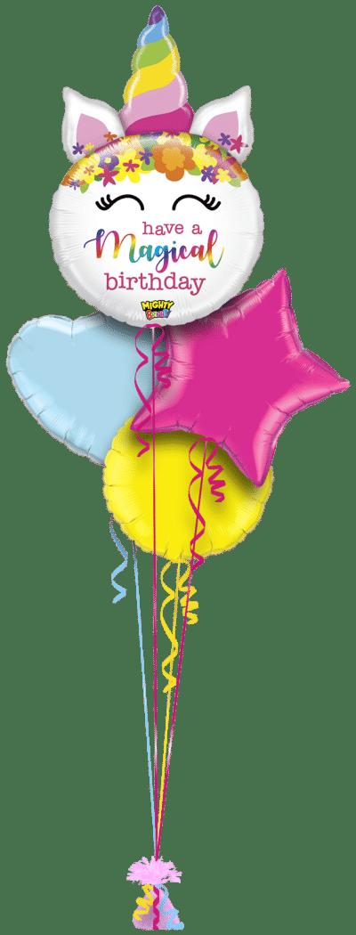 Magical Birthday Unicorn Balloon Bunch