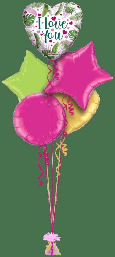 Leafy Love You Balloon Bunch