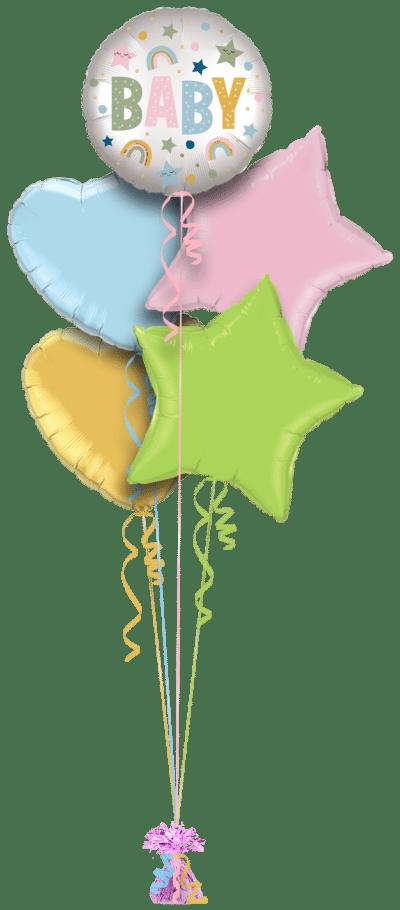 Baby Stars and Rainbows Balloon Bunch