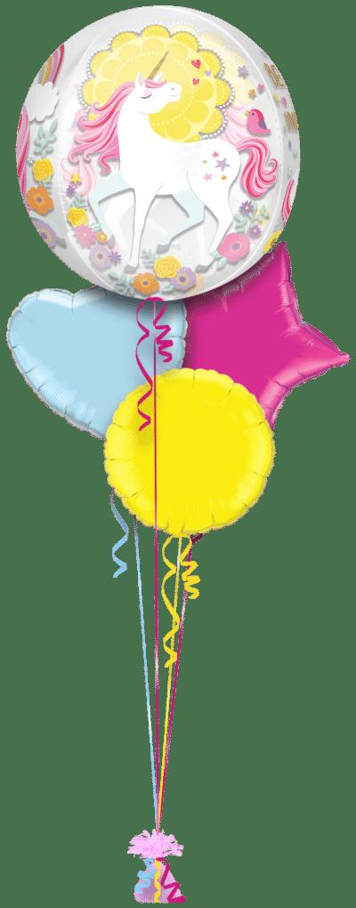 Magical Unicorn Orbz Balloon Bunch