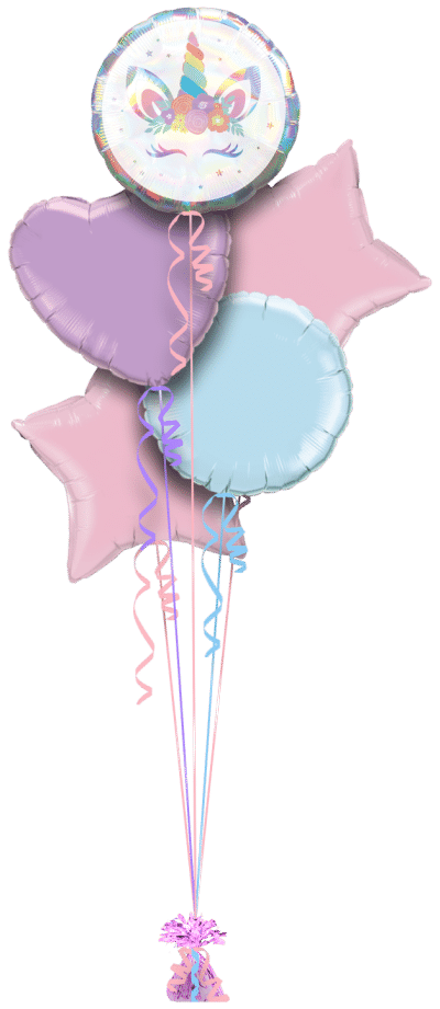 Unicorn Party Balloon Bunch