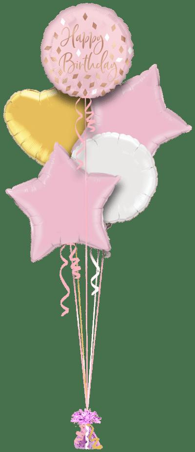 Blush Birthday Balloon Bunch
