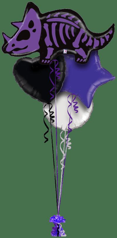 Triceratops Bones Balloon Bunch
