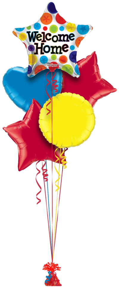 Welcome Home Star Balloon Bunch