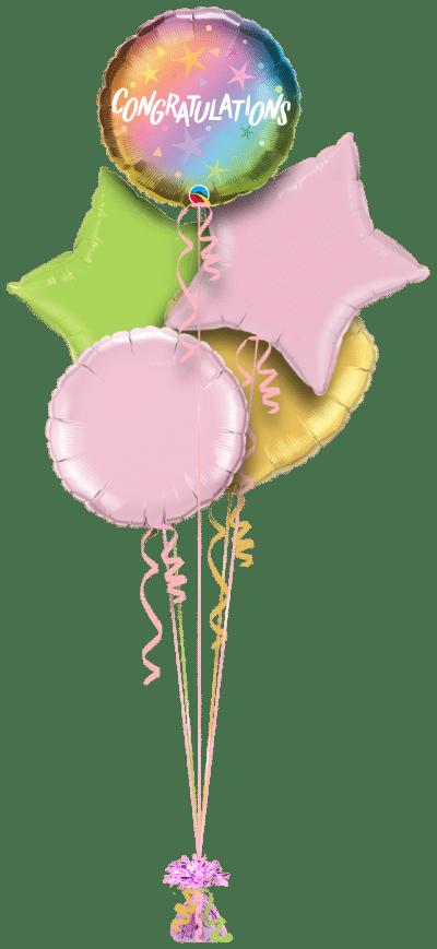 Congratulations Ombre Balloon Bunch