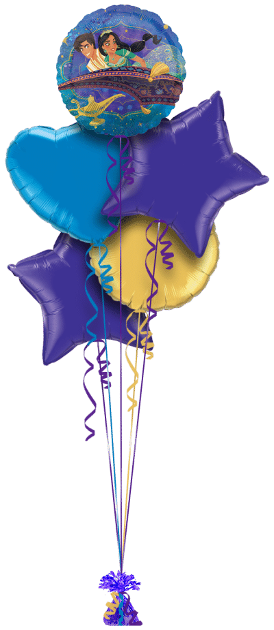 Aladdin and Jasmine  Balloon Bunch