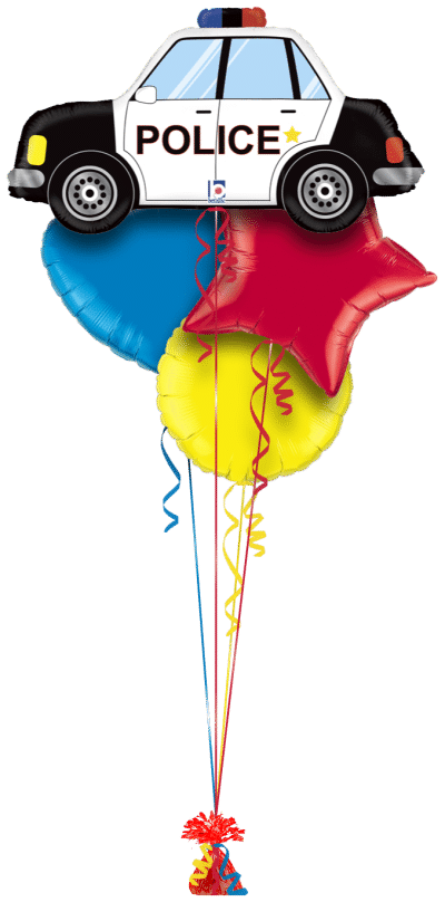 Police Car Balloon Bunch