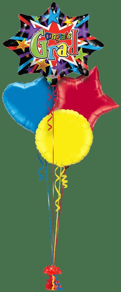 Congrats Grad Starburst Balloon Bunch