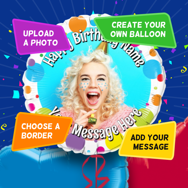 An example of a Birthday photo balloon